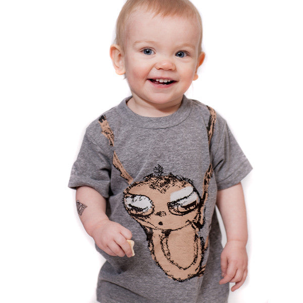 Sloth : kids tri-blend tee, Kids' Apparel - Megan Lee Designs