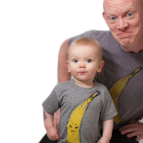 Snaggletooth Banana : kids tri-blend tee, Kids' Apparel - Megan Lee Designs