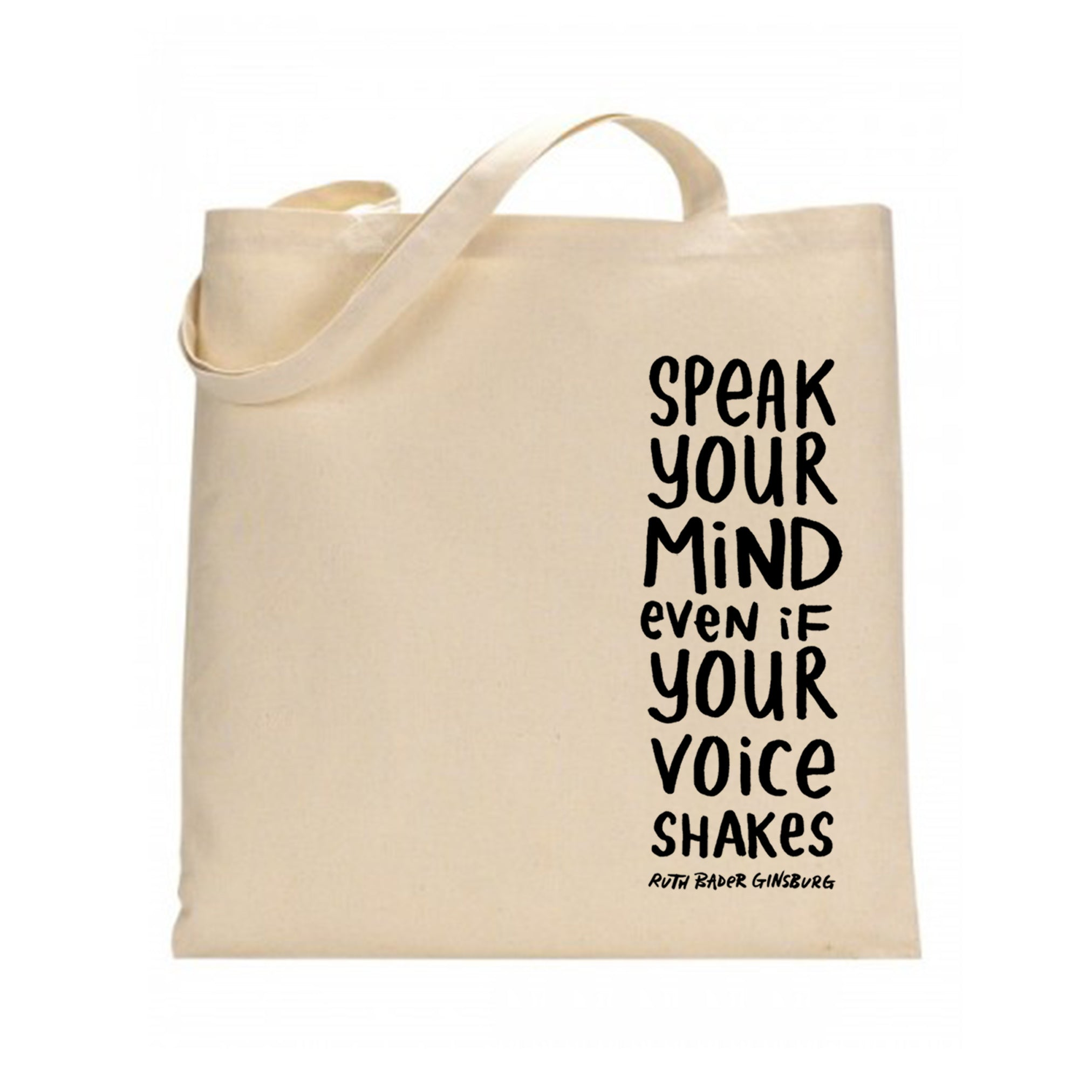 Speak Your Mind : tote bag