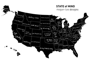 State of Mind Tea Towel - All 50 states available