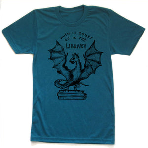 Book Dragon : unisex tri-blend T