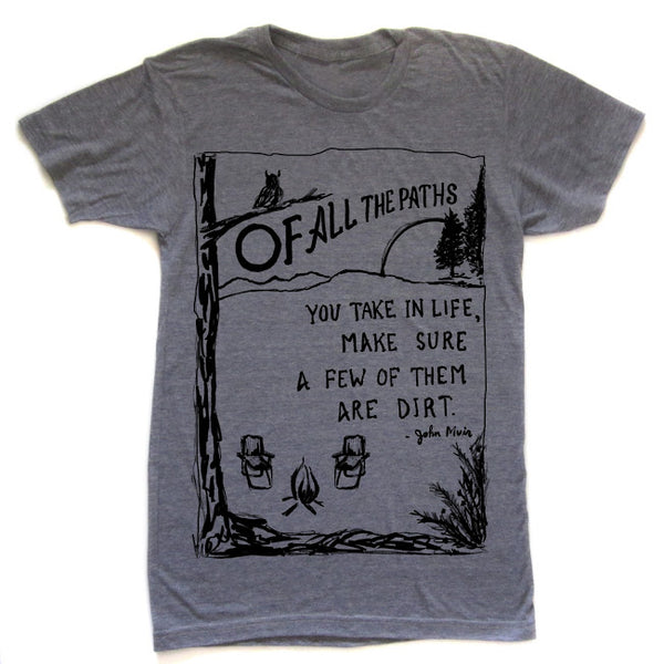 Paths : unisex tri-blend t-shirt