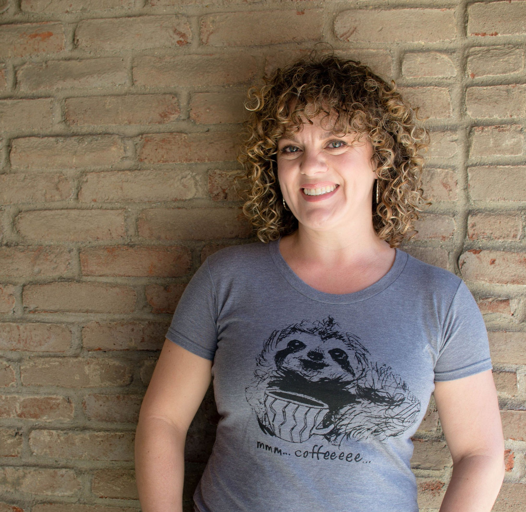 Coffee Sloth : women's tri-blend tee