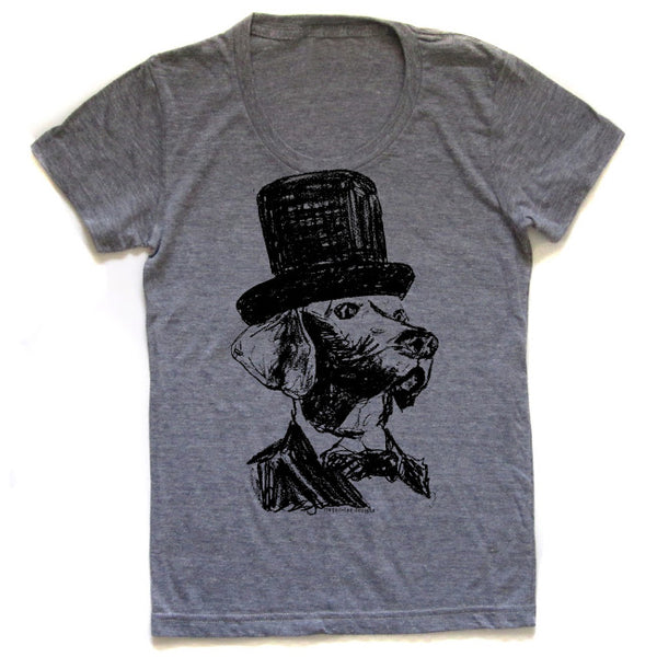 Lincoln Dog : women's tri-blend tee