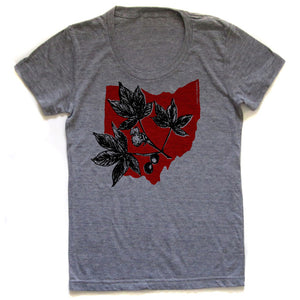 Ohio Buckeyes : Women's tri-blend t-shirt