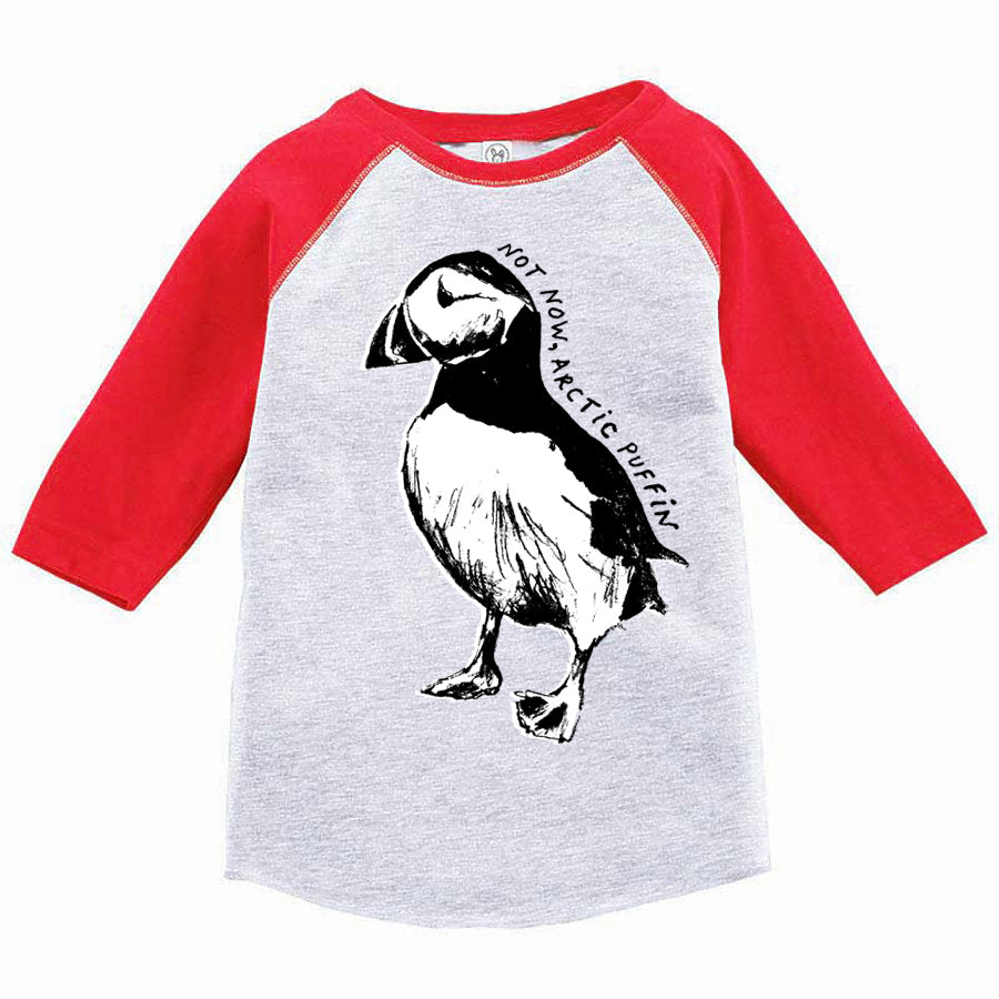 Not Now Arctic Puffin : Youth Baseball T