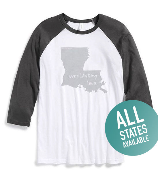 State of Mind Baseball T - All 50 states available