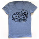 Chicago Pizza : women's tri-blend tee