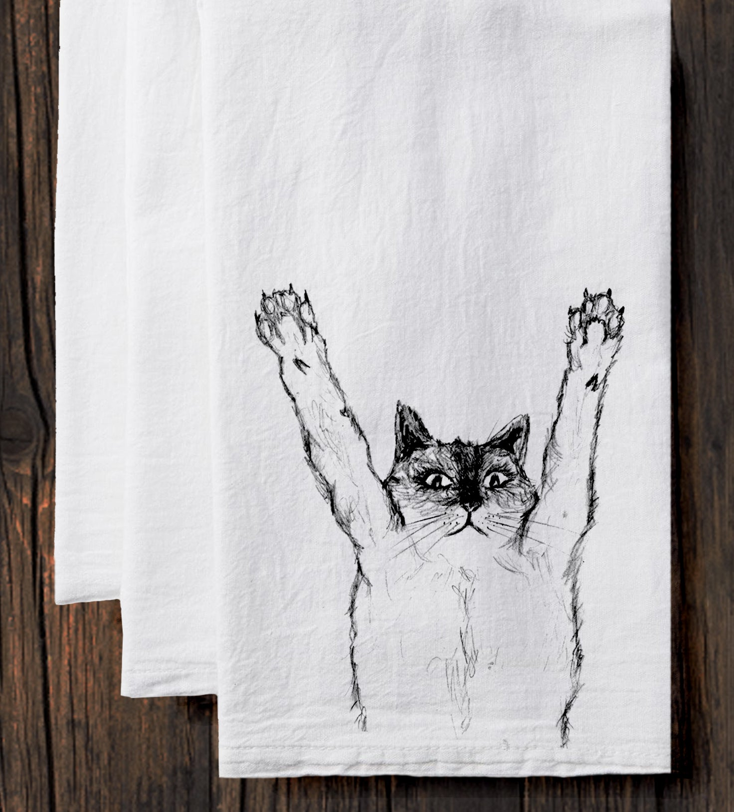 Cat : tea towel