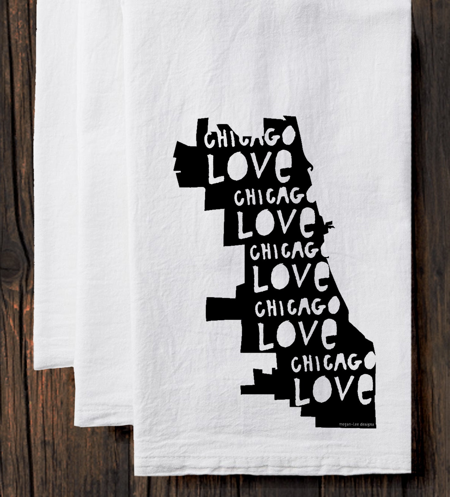 Chicago Love : tea towel
