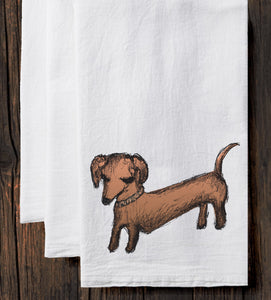 Dachshund : tea towel