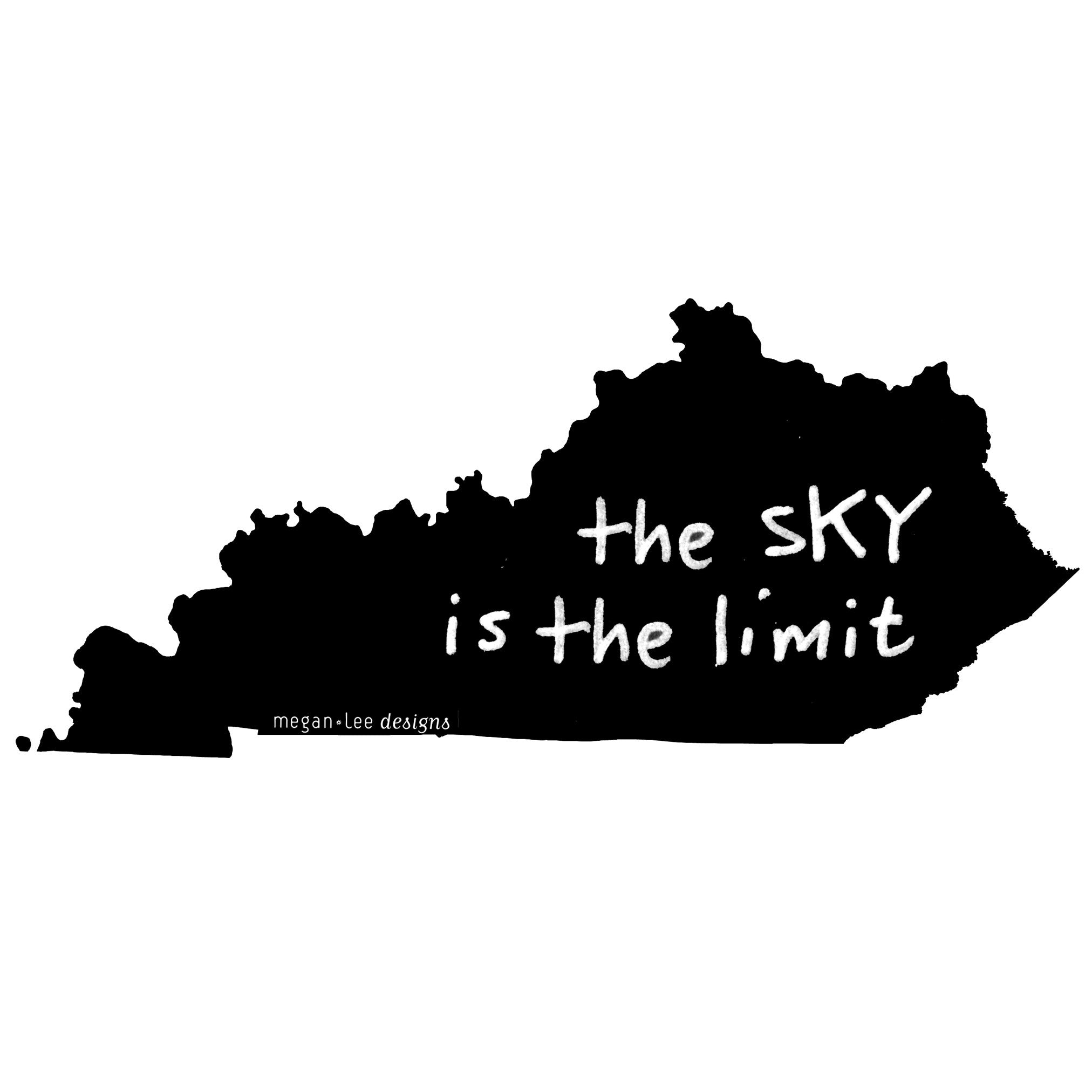 Kentucky : the sKY is the limit women tri-blend tee, Women's Apparel - Megan Lee Designs