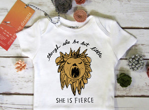 Fierce Lion baby bodysuit