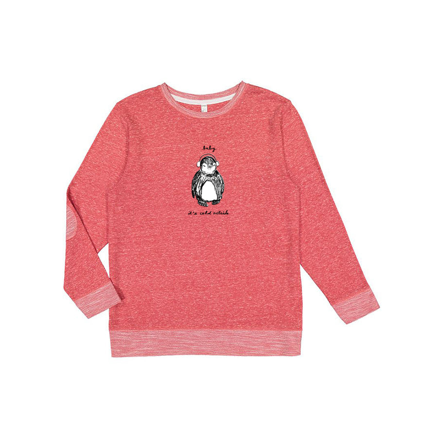 Baby It's Cold Outside : Unisex Melange Sweatshirt