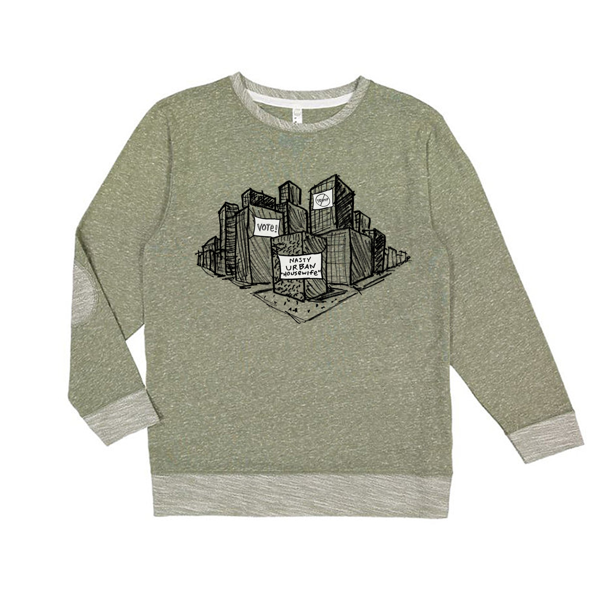 Nasty URBAN Housewife : Unisex Melange Sweatshirt
