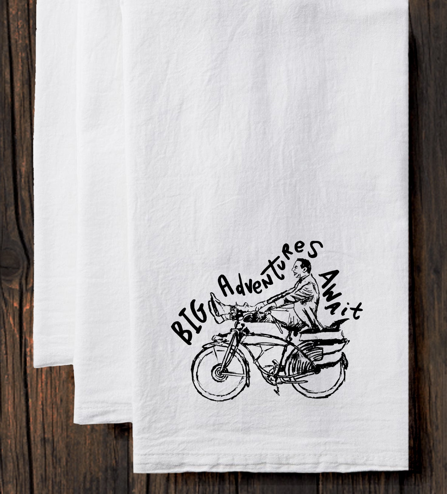 Big Adventures Await Tea Towel