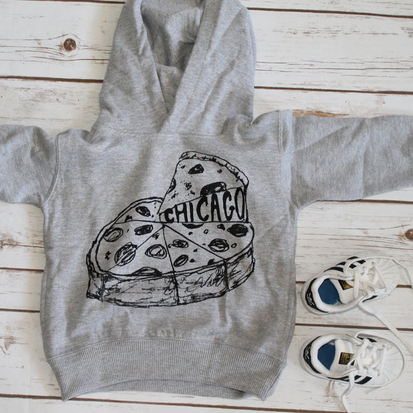 Chicago Pizza : kids hoodie