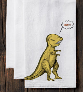T-Rex : tea towel