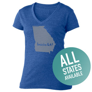 State of Mind Women's V-Neck - All 50 states available