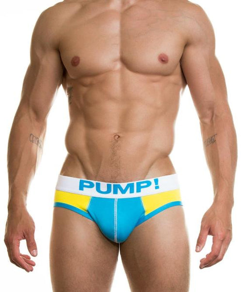 PUMP! LEMON DROP BRIEF (BLUE/YELLOW) - The Jock Shop