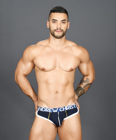 ANDREW CHRISTIAN SHOW-IT RETRO POP BRIEF (BLUE) - The Jock Shop