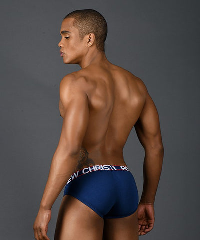 ANDREW CHRISTIAN TROPHY BOY ACTIVE MESH BRIEF (NAVY) - The Jock Shop