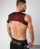 MASKULO ARMORED COLOR-UNDER HOLSTER CHEST HARNESS (RED/BLACK)