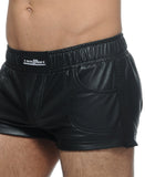 STUD CALVEX PVC STRETCHABLE SHORTS (black)