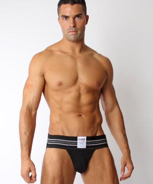 CELLBLOCK TIGHT END JOCKSTRAP (BLACK) - The Jock Shop