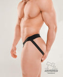 MASKULO ARMORED NEXT MEN'S FETISH JOCKSTRAP (BLACK)