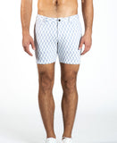 "ST33LE 5"" KNIT SHORT - GEO HARRINGBONE (WHITE/GRAY)"