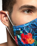 ES COLLECTION FLOWERY MASK (BLUE)