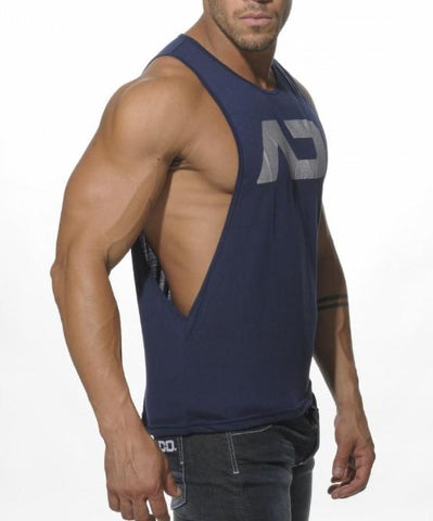 ADDICTED AD LOW RIDER TOP (NAVY) - The Jock Shop