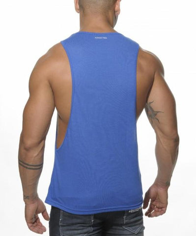 ADDICTED AD LOW RIDER TOP (BLUE) - The Jock Shop