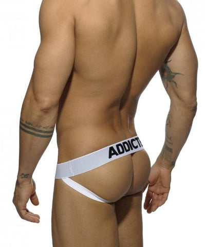 ADDICTED 3 PACK MESH PUSH-UP JOCK STRAPS (BLACK, WHITE, BLUE)