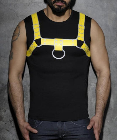 ADDICTED FETISH HARNESS TANK TOP (BLACK) - The Jock Shop
