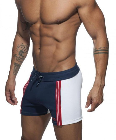 ADDICTED AD RETRO SHORT SHORTS (NAVY) - The Jock Shop