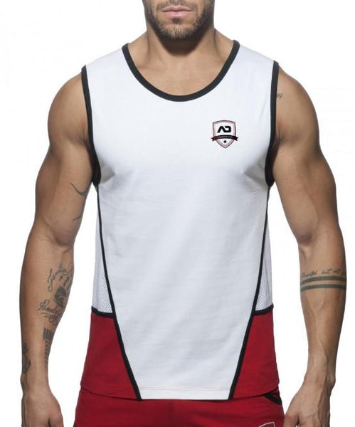ADDICTED COMBI SHIELD TANK TOP (RED) - The Jock Shop