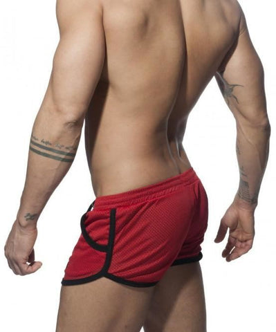 ADDICTED LOW RISE MESH ROCKY SHORTS (RED) - The Jock Shop