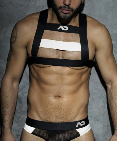 ADDICTED RUBBER HARNESS (WHITE) - The Jock Shop