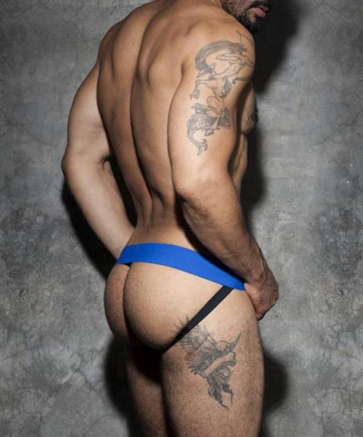 ADDICTED COCKRING DOUBLE JOCKSTRAP (BLUE) - The Jock Shop