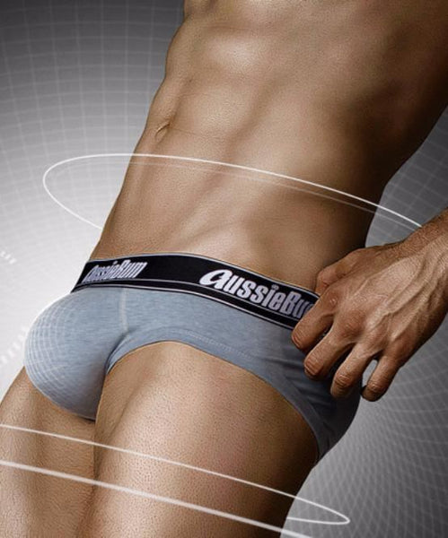 AUSSIEBUM WONDERJOCK PRO BRIEF (BLUE MARLE) - The Jock Shop