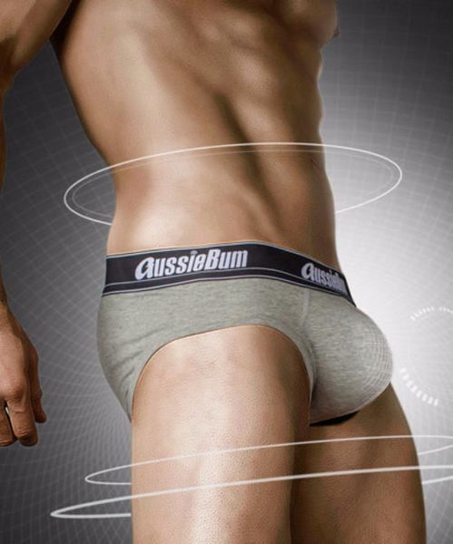 AUSSIEBUM WONDERJOCK PRO BRIEF (GREY MARLE) - The Jock Shop
