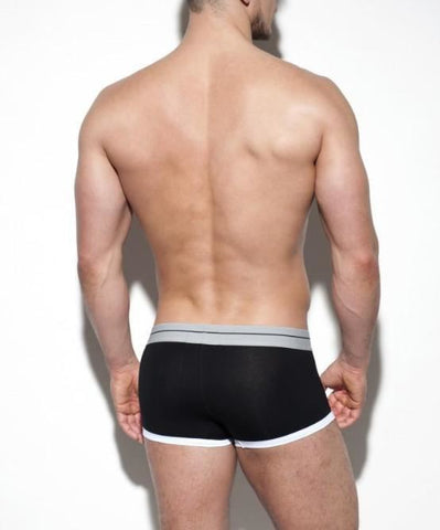 ES COLLECTION 7 DAY BOXER BRIEF (BLACK) - The Jock Shop