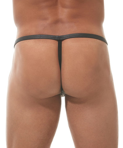 GREGG HOMME CAPTIVE POUCH THONG (GREY) - The Jock Shop