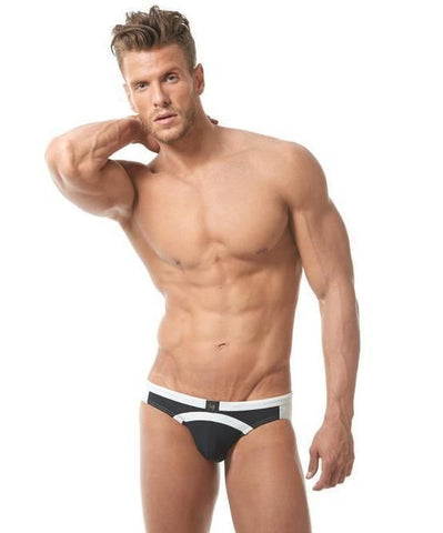 GREGG HOMME SEA REEF SWIM BRIEF (BLACK) - The Jock Shop
