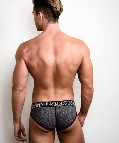 MARCO MARCO GRAY ALL OVER BRIEFS (GRAY) - The Jock Shop