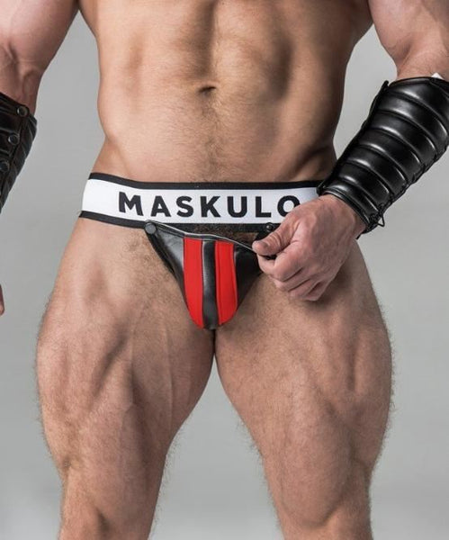 MASKULO FETISH JOCK STRAP (RED) - The Jock Shop