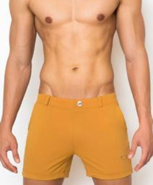 2EROS BONDI SWIM SHORTS (ALMOND) - The Jock Shop