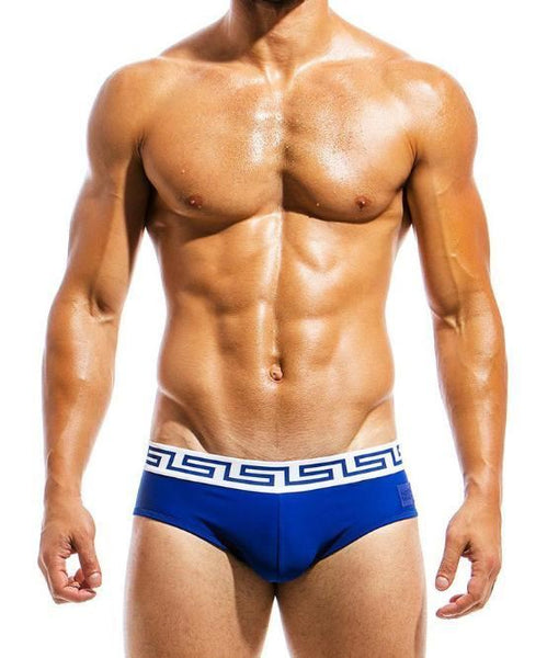 MODUS VIVENDI MEANDER SWIM BRIEF (BLUE) - The Jock Shop